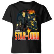 Avengers Star-Lord Kinder T-shirt - Zwart