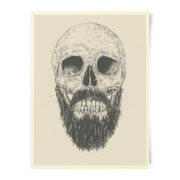 Bearded Skull Art Print