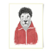 Sporty Lion Art Print
