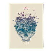 Skulls And Flowers Art Print