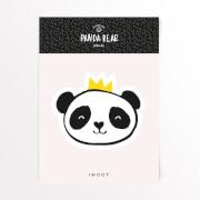 Pandabär Krone Vinyl Aufkleber