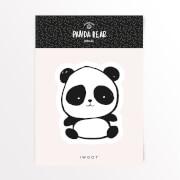 Pandabär Augen Vinyl Aufkleber