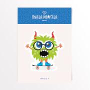 Skater Monster Brille Vinyl Aufkleber