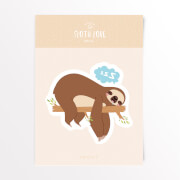 Sloth Love Snooze Vinyl Decal