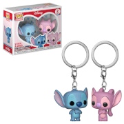 Lot de 2 Pop! Keychain - Stitch & Ange - Lilo & Stich