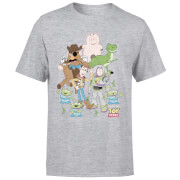 Toy Story Group Shot Men's T-Shirt - Grey