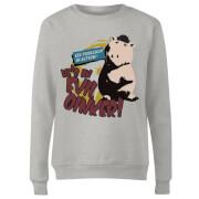 Toy Story Evil Oinker Women's Sweatshirt - Grey