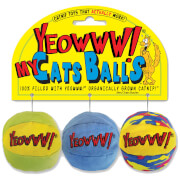 Yeowww My Cats Balls Catnip Toy (Pack Of 3)