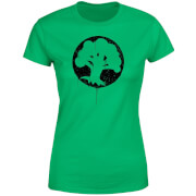 Magic The Gathering Green Mana Splatter Women's T-Shirt - Kelly Green