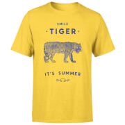 Smile Tiger Men's T-Shirt - Yellow