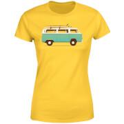 Blue Van Women's T-Shirt - Yellow