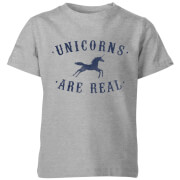Unicorns Are Real Kids' T-Shirt - Grey