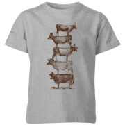 Cow Cow Nuts  Kids' T-Shirt - Grey
