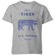 Smile Tiger Kids' T-Shirt - Grey