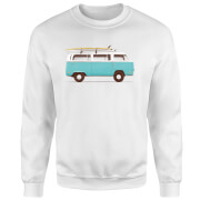 Blue Van Sweatshirt - White