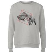 Fish In Geometry Women's Sweatshirt - Grey
