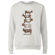 Cow Cow Nuts Women's Sweatshirt - White