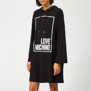 Love Moschino Women's Logo Box Sweater Dress - Black