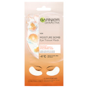 Garnier Hyaluronic Acid and Orange Juice Hydrating Brightening Eye Sheet Mask 6g
