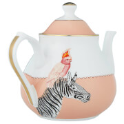 Yvonne Ellen Zebra and Cockatoo Teapot - Pink