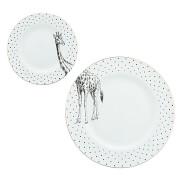 Yvonne Ellen Giraffe Plates - White (Set of 2)