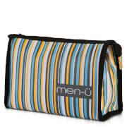 men-ü Stripes Toiletry Bag – Grey/Blue/Yellow