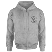 How Ridiculous 44 Pocket Emblem Zip Hoodie - Grey