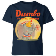 Dumbo Flying Elephant Kids' T-Shirt - Navy
