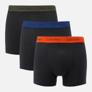 Calvin Klein Men's 3 Pack Boxer Trunks - Forest Night/Dark Night/Orange