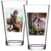 Set de 2 vasos - Star Wars - Chewbacca y R2-D2