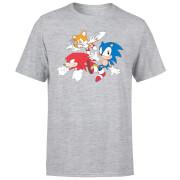 Sonic The Hedgehog Classic Cartoon Group Herren T-Shirt - Grau