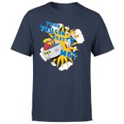 Sonic The Hedgehog Think You Can Beat Me Herren T-Shirt - Navy Blau