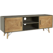 Premier Housewares Trinity Media Unit - Fir Wood/Iron