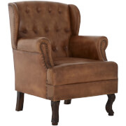 Fifty Five South Buffalo Armchair - Light Brown Leather