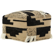 Premier Housewares Bosie Trenza Pouffe - Wool/Cotton Cover