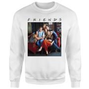 Sudadera Friends Personajes - Hombre - Blanco