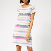 Joules Women's Henrietta Linen Shift Dress - Blue Stripe