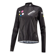 Morvelo Women's Strands Aegis Packable Windproof Jacket - Black/Yellow/White/Pink