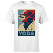 Star Wars Classic Yoda Poster Herren T-Shirt - Weiß