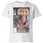 Star Wars Classic Classic Comic Book Cover Kinder T-Shirt - Weiß
