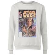 Star Wars Classic Comic Book Cover Women's Sweatshirt - White