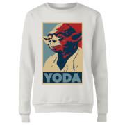 Star Wars Classic Yoda Poster Damen Pullover - Weiß