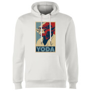 Sweat à Capuche Homme Poster Yoda Star Wars Classic - Blanc