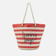 Joules Women's Seaside Summer Bag - Red Stripe Sunny