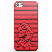 Nintendo Super Mario Mario Retro Colour Line Art Phone Case for iPhone and Android