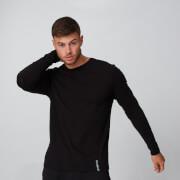 MP Luxe Classic Long Sleeve Crew - Black