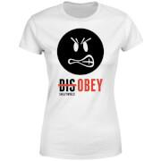 Smiley World Slogan Disobey Women's T-Shirt - White