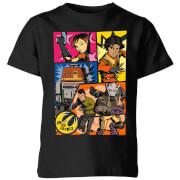 Star Wars Rebels Comic Strip Kids' T-Shirt - Black