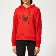 KENZO Women's Bold Hoodie - Medium Red