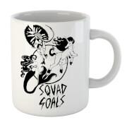 Mermaid, Unicorn And Dinosaur Squad Goals Mug